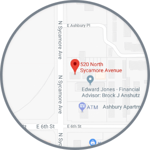 Map Sycamore Ave Journey Orthodontics Sioux Falls and Yankton, SD